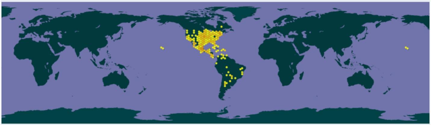 Aire de distribution de Najas guadalupensis